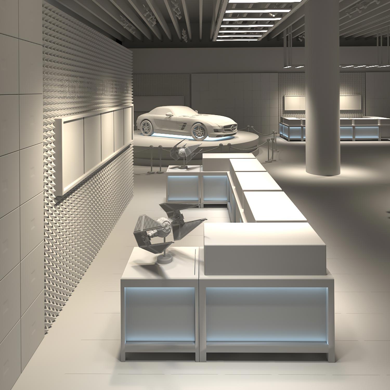 3D Visualizer Exhibit Rendering