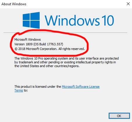 How to check your Windows version:  Enter winver into the Windows search box and hit enter