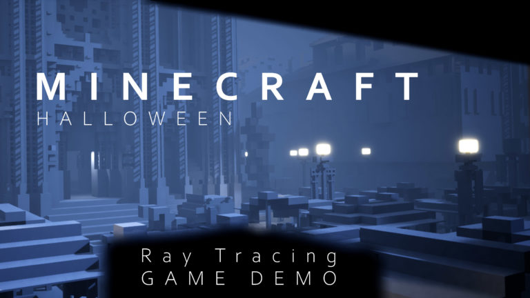 Minecraft-Ray-Tracing-Game-Demo-for-Halloween