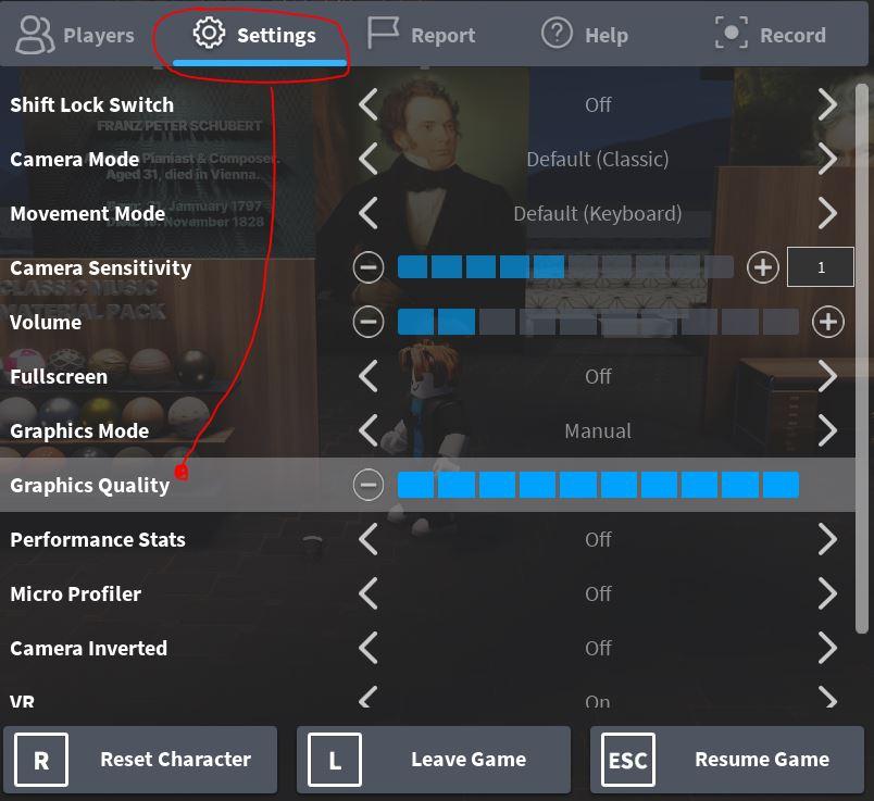 FattyBull Roblox Graphics Quality Settings